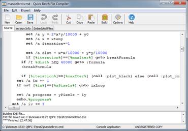 run cmd.exe with bat file